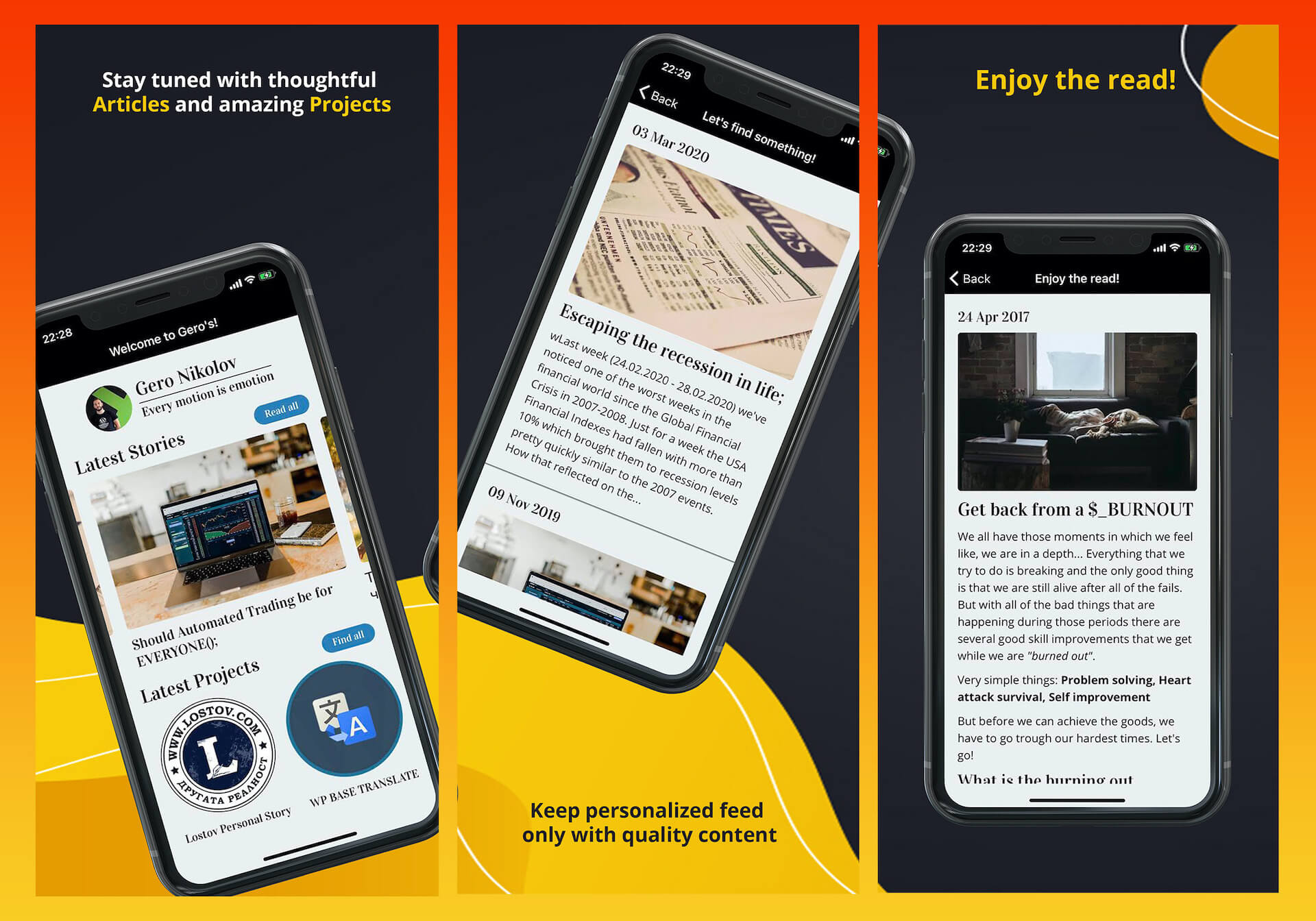 Geros FREE iOS Application, available on App Store for iPhones.